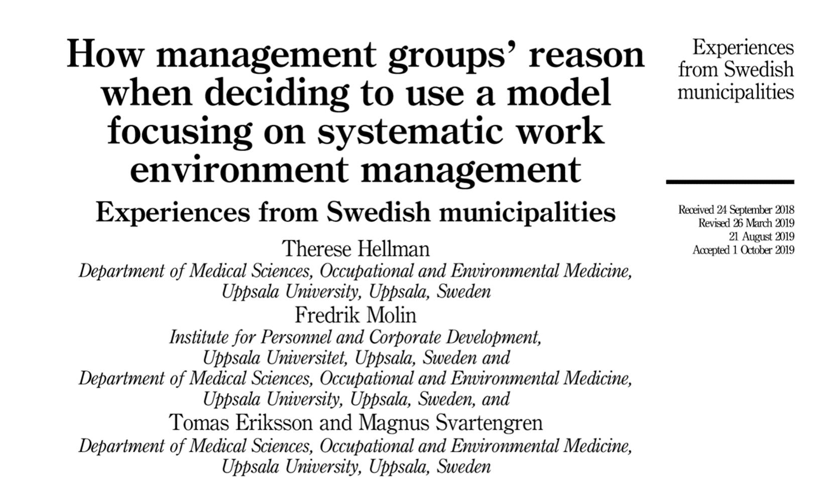 Fredrik Artikel How Managent Groups reason